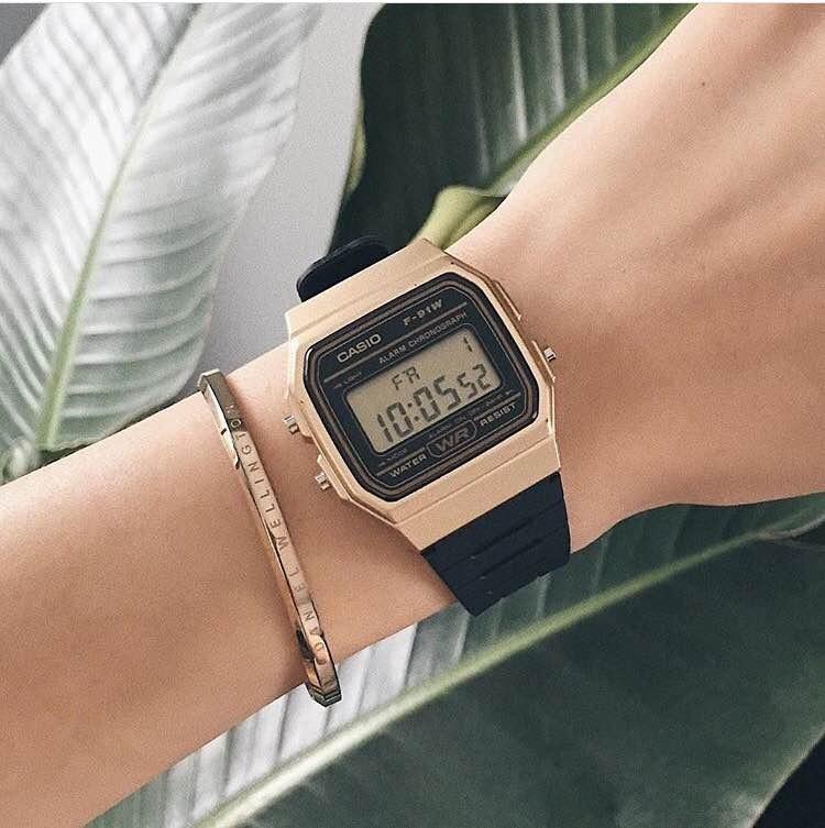 d7ddc30b3b84 Nuevo Reloj Casio F91 F91wm-9a Unisex Dorado -   21.000 en Mercado Libre