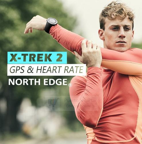 nuevo reloj north edge x-trek gps satelital / cronógrafo /