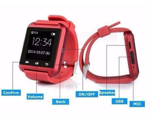 nuevo reloj u8 smartwatch android iphone samsung galaxy htc
