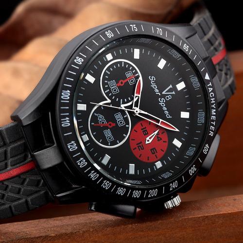 nuevo reloj v8 super speed!! racing turbo!! super deportivo!