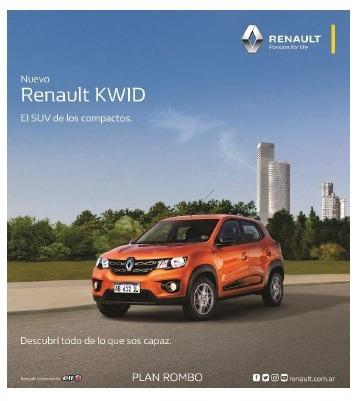 nuevo renault kwid 1.0 sce 66cv life 2018 0km
