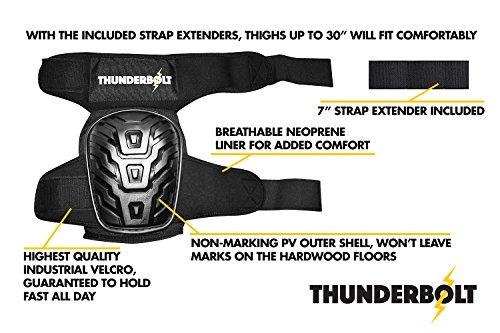 Rodilleras profesionales por Thunderbolt Cojín cómodo de gel para construcció