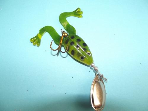 nuevo señuelo blando rana spinner 7 gr pesca deportiva