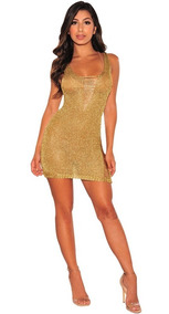 988a3b423 Vestidos Sexy Dama - Vestidos de Mujer Casual Dorado oscuro en ...
