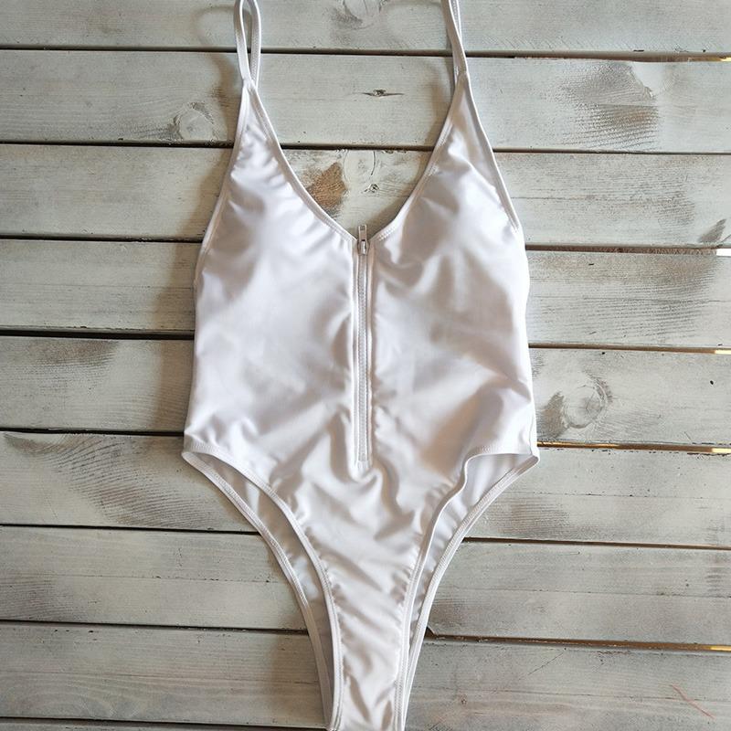 7816579cb1be Nuevo Sexy Mujeres Uno -piece Traje De Baño Zambullida V Cu