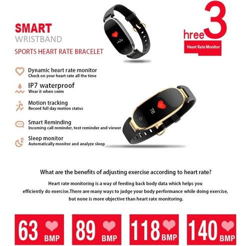 nuevo smart watch reloj inteligente s3 plus a color dama msi