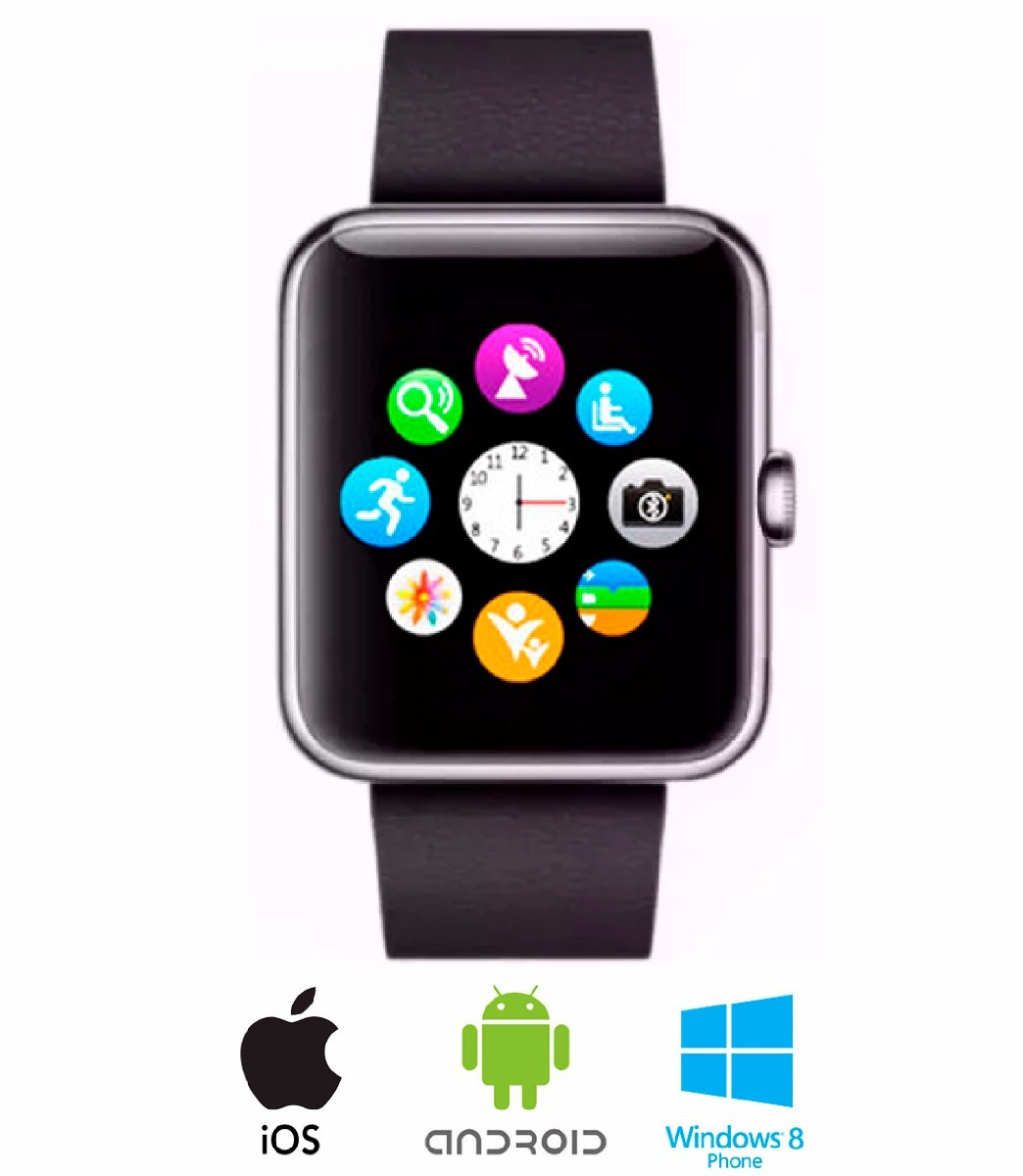 nuevo smartwatch reloj inteligente 2018 android apple. Black Bedroom Furniture Sets. Home Design Ideas