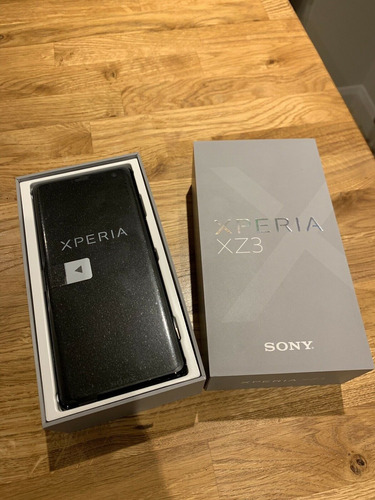 nuevo sony xperia xz3 12gb smartphone negro desbloqueado