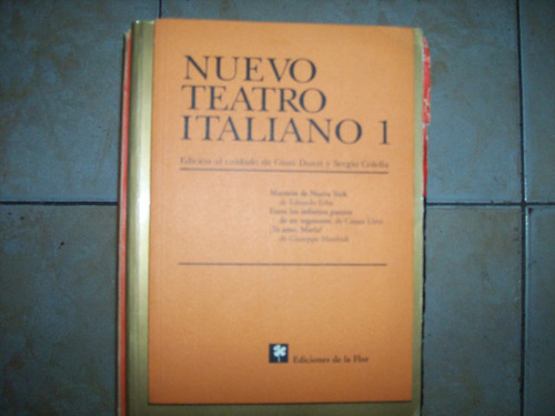 nuevo teatro italiano 1 - ediciones de la flor