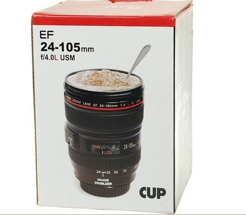 nuevo termo taza forma de lente de camara caniam 24-105