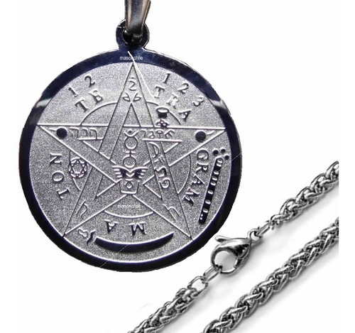 nuevo tetragramaton, acero + cadena  premium tetragrammaton
