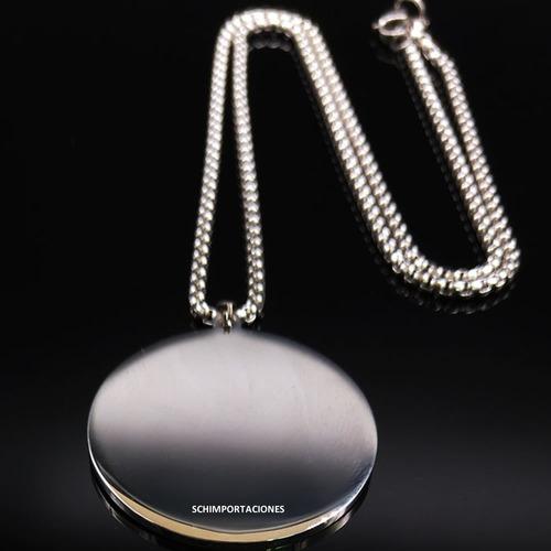 nuevo tetragramaton premium* acero  + pulsera de obsidiana -
