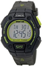 b79a73605ff8 Nuevo Timex T5k824 Ironman Correa De Resina Gris Reloj.