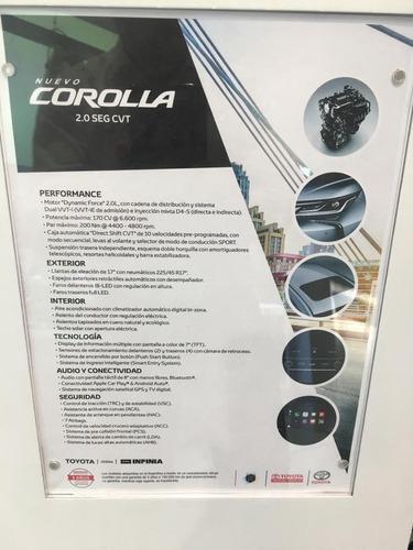 nuevo toyota corolla 2.0 seg automático entrega programada
