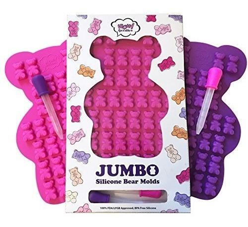 nuevo único molde extra grande de oso gomoso - juego de 2 mo