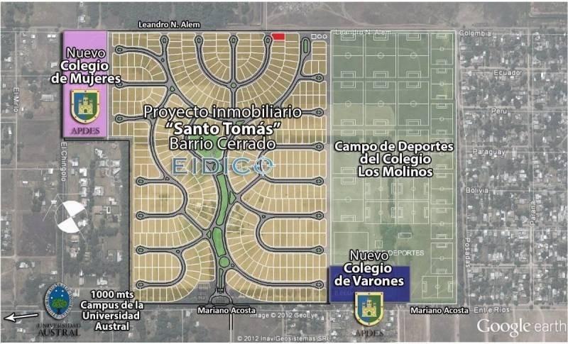 nuevo valor lote barrio cerrado santo tomás (derqui) en venta 484m2