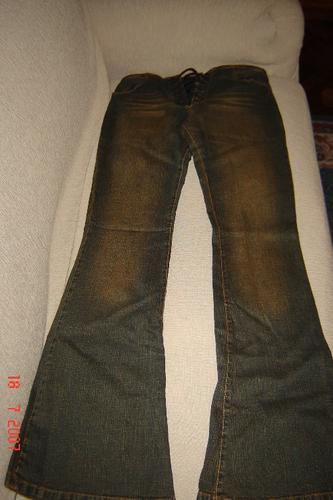 nuevo!!! vaquero jean oscuro,acordonado,talle 42