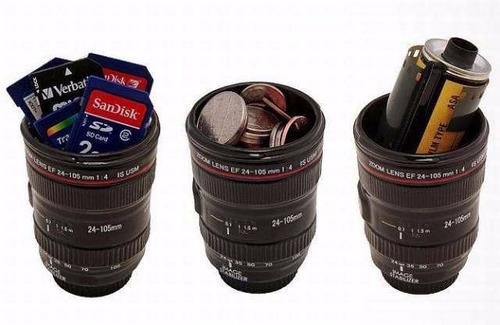nuevo vaso en forma de lente d camara profesional fotografia