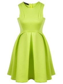 Vestidos en verde limon