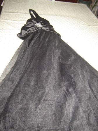 nuevo!! vestido de fiesta usa color negro talle 8