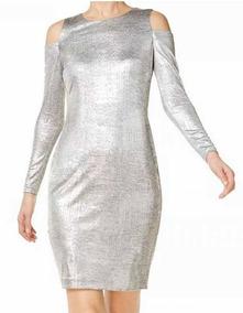 b9ba04060 Vestidos De Coctel Importados Labrado - Vestidos Plateado en Mercado ...