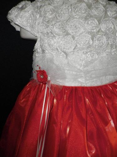 nuevo vestido largo niña fiesta pajecita princesa 5 y 6 años