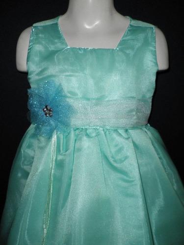 nuevo vestido largo organza fiesta pajecita princesa niñas