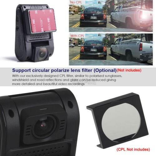 US VIOFO A119S Capacitor Novatek 96660 1080p 60fps Car Dash Cam Camera+CPL Lens