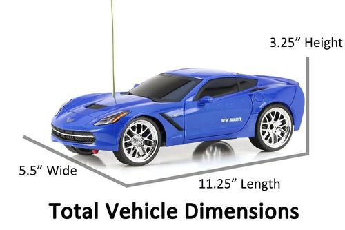 nuevo y luminoso f/f corvette c7 vehículo rc (1:16 escala),