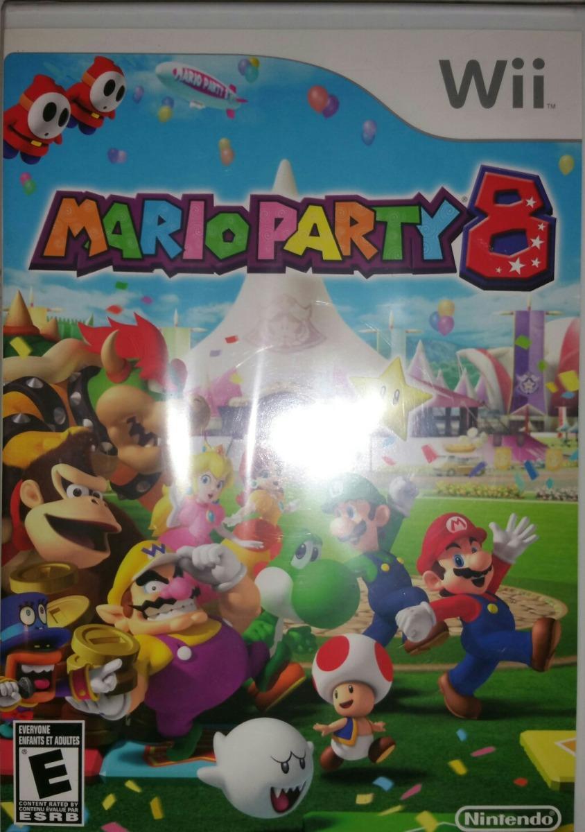 Nuevo Y Original Juego Wii Mario Party 8 Sellado De Paquete Bs