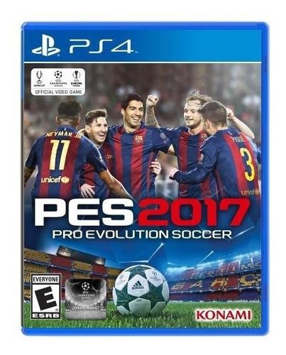 nuevo y sellado! pes 2017 ps4 pro evolution soccer