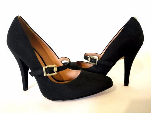 nuevo zapato dama negro andrea talla 2 tacón 11cm