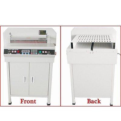 nuevos 17,7  guillotina corte máquina oficina pila eléctrica