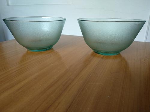 nuevos 2 bols de vidrio de coca cola