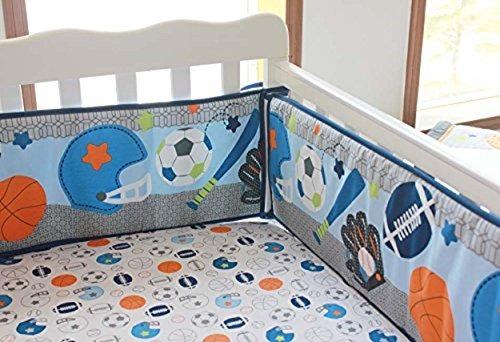 Nuevos 8 piezas beb ni o deporte cuna juego de cama en mercado libre - Juego de cama para cuna ...