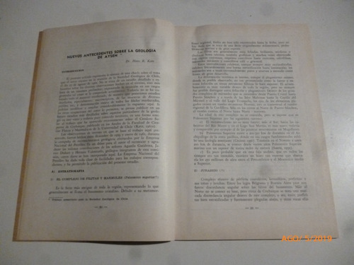 nuevos antecedentes sobre la geologia de aysen.hans r. katz