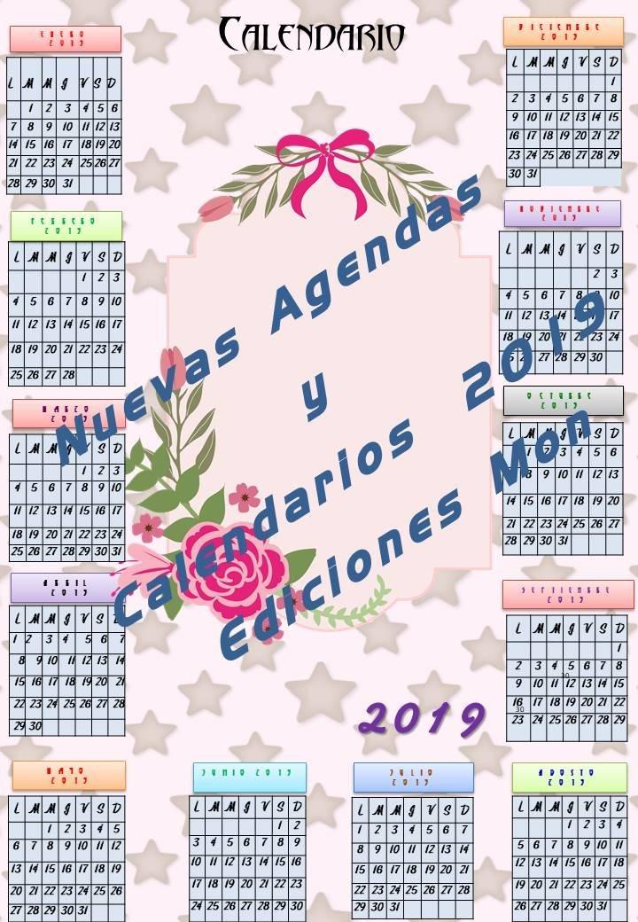 Nuevos Calendarios 2019 Precio Listo Para Imprimir 56 00 En