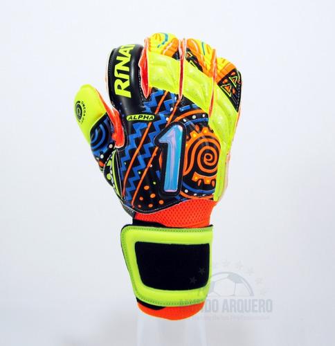 nuevos guantes para portero modelo rinat uno alpha alebrije sin varillas - envio y personalizado gratis - mundo arquero