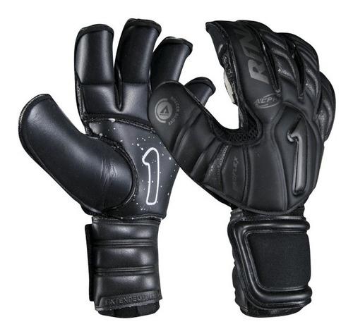 nuevos guantes para portero modelo rinat uno alpha sin varillas negro - envio y personalizado gratis - mundo arquero