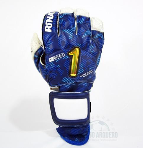 nuevos guantes pro para portero rinat asimetrik hunter sin varillas azul - envio y personalizado gratis - mundo arquero