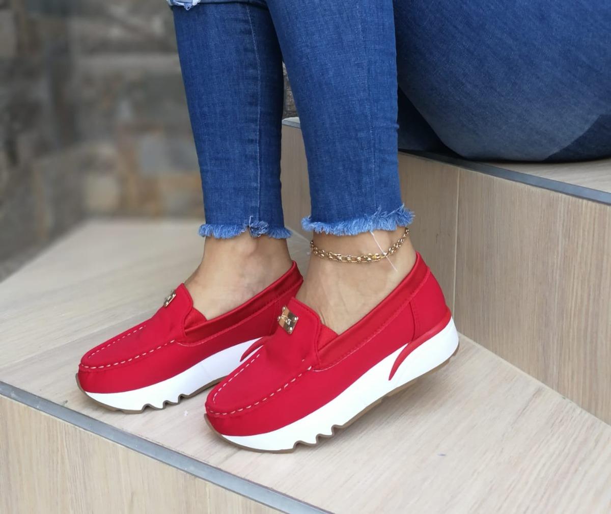 81a3a679eb42f Nuevos Zapatos Cómodos Sin Cordones Dama -   60.000 en Mercado Libre