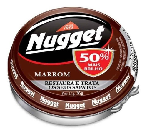 nugget cera em pasta marrom 36g