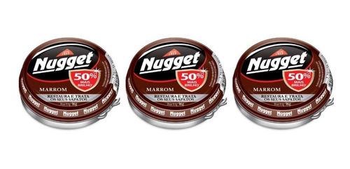 nugget cera em pasta marrom 36g (kit c/03)