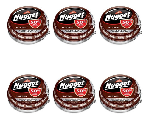 nugget cera em pasta marrom 36g (kit c/06)