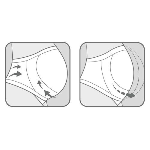 nuk calzón maternal blanco con soporte para el vientre
