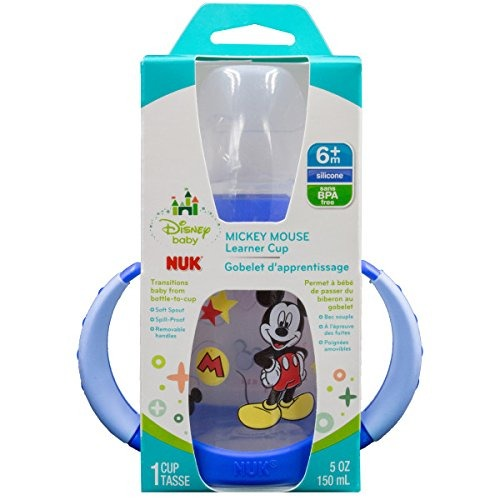 NUK Disney Learner Sippy Cup Mickey Mouse 5oz 1pk