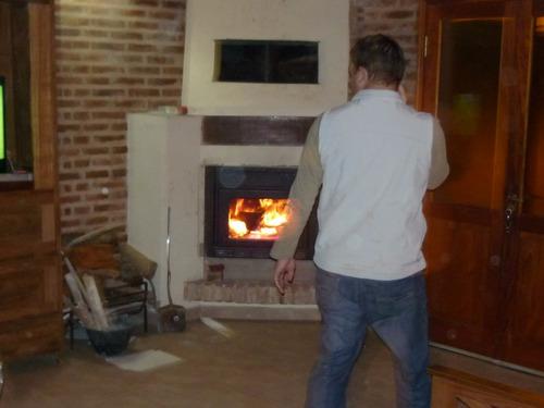 ñuke calefactor insertable a leña  modelo cóndor