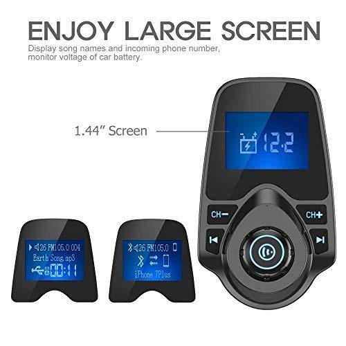 nulaxy bluetooth car fm transmisor adaptador de audio recept
