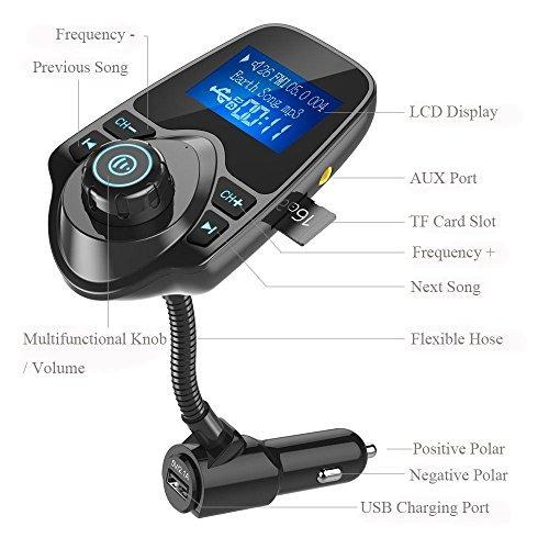 nulaxy bluetooth car transmisor fm receptor de audio recepto