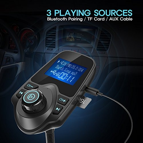 nulaxy wireless in-car bluetooth transmisor fm radio adapter